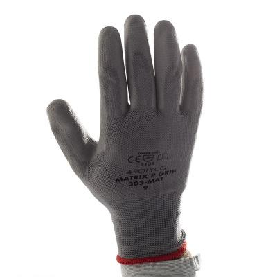 Polyco Matrix P Grip Grey Safety Gloves 300 Mat